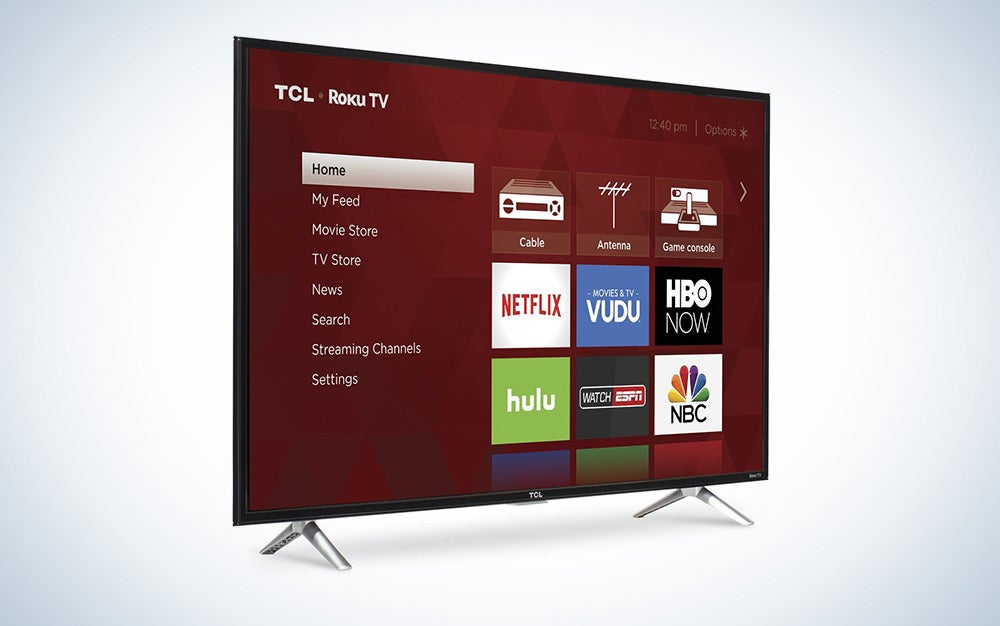 43-inch smart TCL TV with built-in Roku