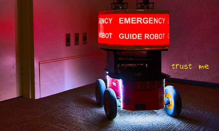 People Trust Robots To Lead Them Out Of Danger, Even When They Shouldn't