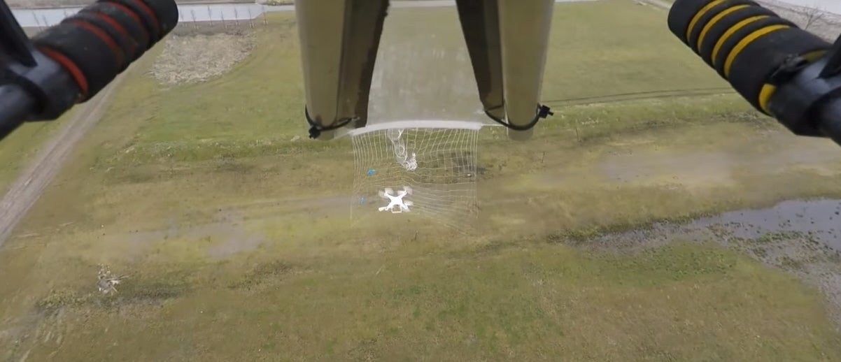 This Drone Fires Nets To Catch Other Drones