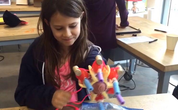 This 10-Year-Old Made Herself A Prosthetic Arm That Shoots Glitter