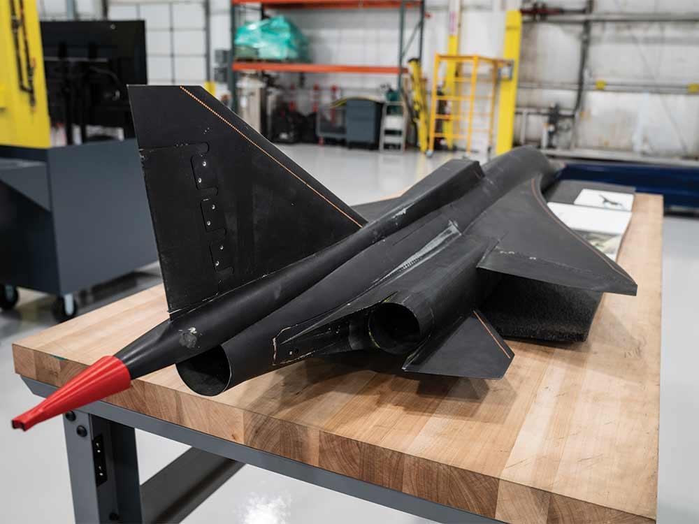 mockup of a future concord plane