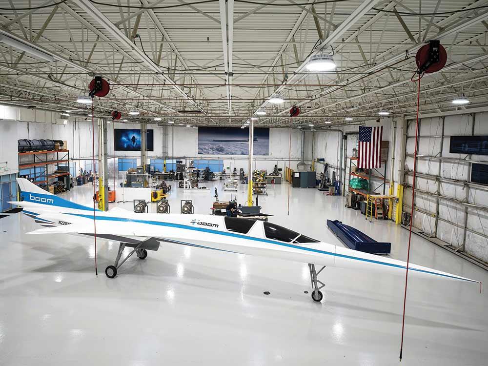 boom demonstration plane flyer mockup