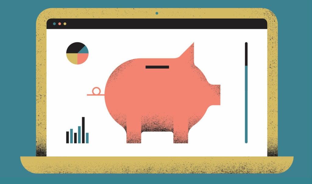 funding piggy bank illustration