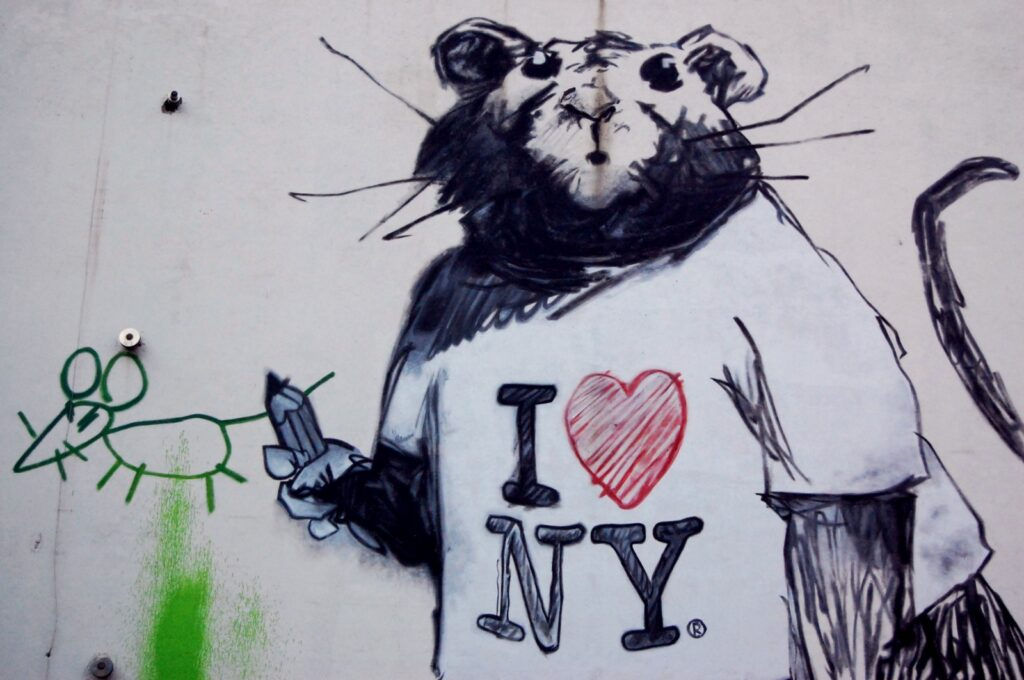 A mural in the SoHo neighborhood of New York City
