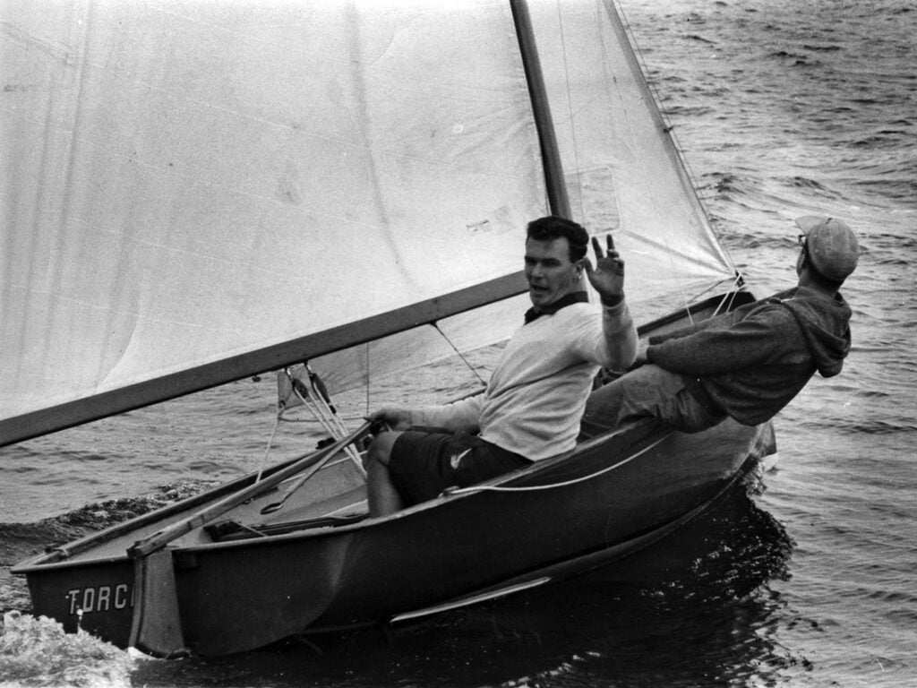 Kirby on the MK.1 International 14 dinghy