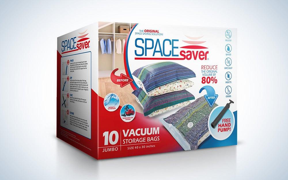 Spacesaver vacuum-sealed bags