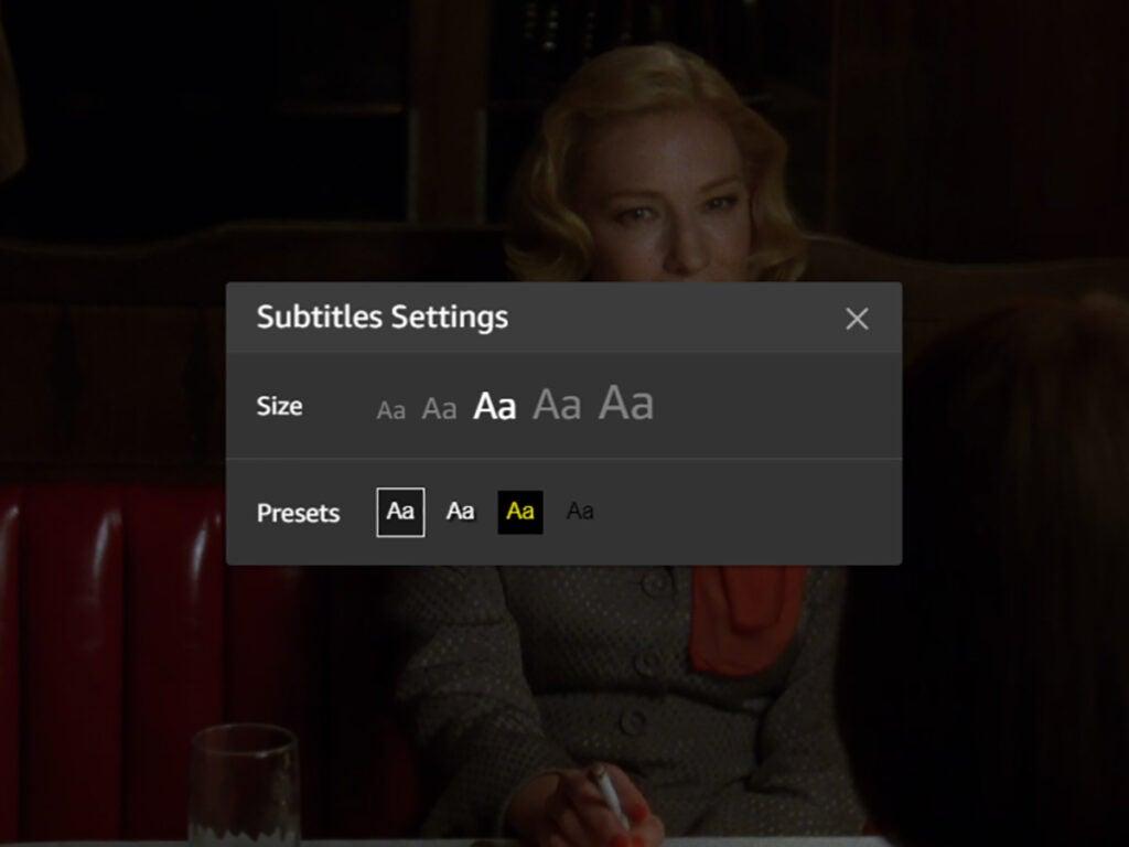 Prime Video subtitles