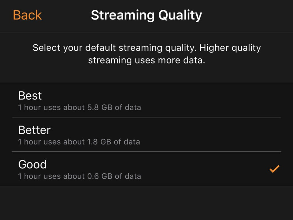 Streaming quality