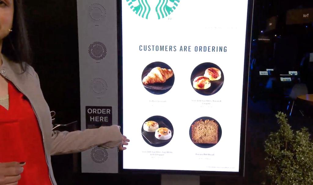 Starbucks smart touch drive-through menu