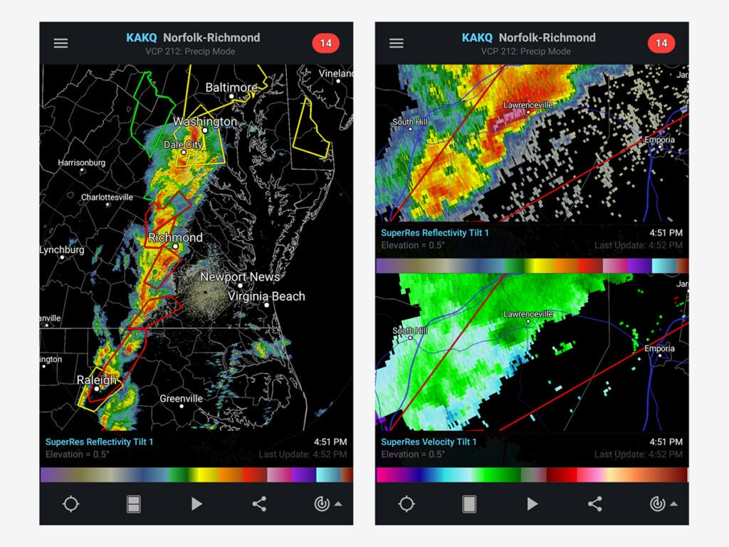 RadarScope's detailed maps make it the best weather radar app available, and one of the best weather apps.
