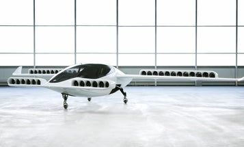 Watch this electric air taxi take off vertically, thanks to 36 swiveling 'jet' engines