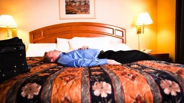 men on a bed