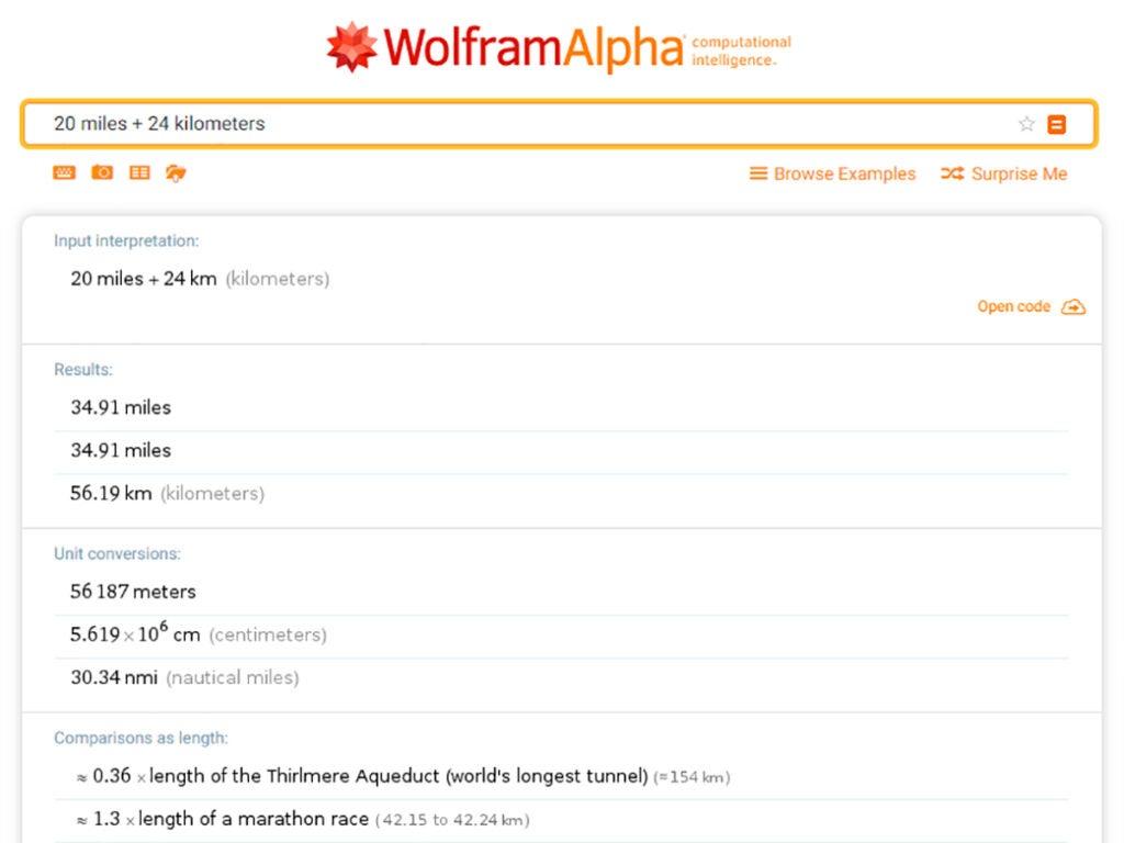 Woflram Alpha