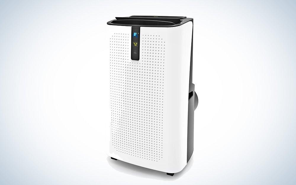 JHS AC, three-speed fan, and a dehumidifier