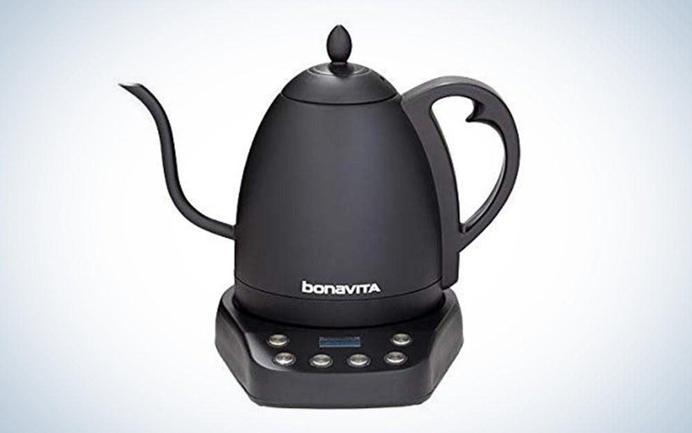 Black Bonavita Interurban Electric Tea Kettle is on the list of kitchen essentials.