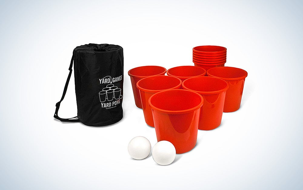 Wicked Big Sports Supersized Pong Outdoor/Indoor Sport Tailgate Games, 6 Cups