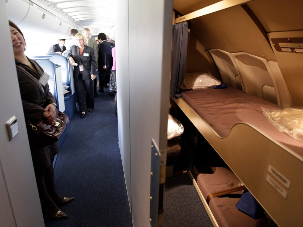 aircrew rest and sleep area on Boeing 747