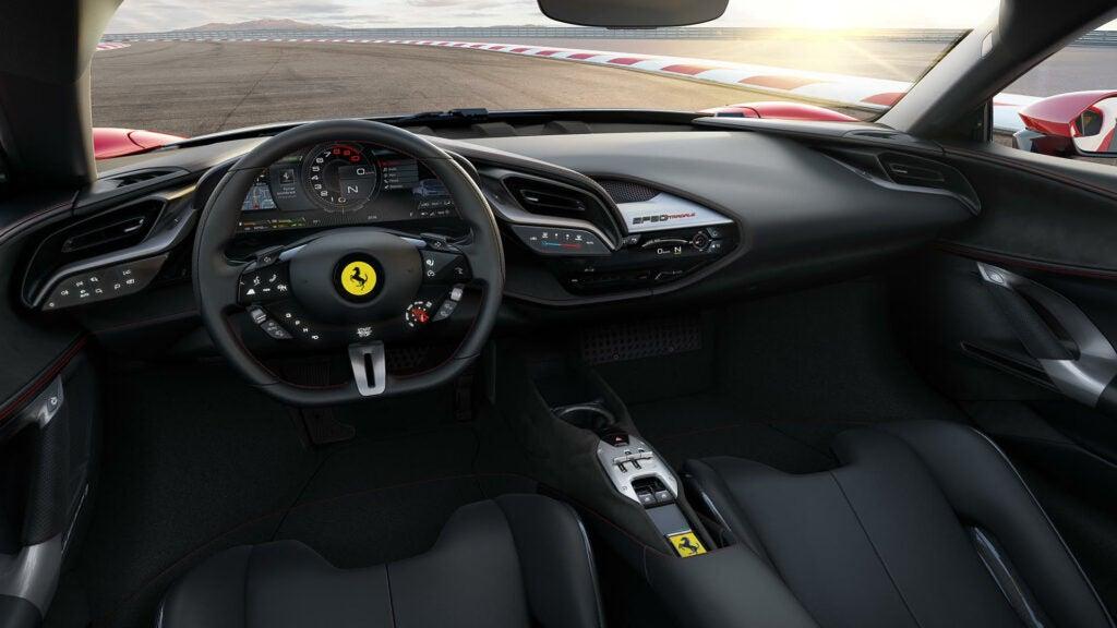Ferrari SF90 cockpit