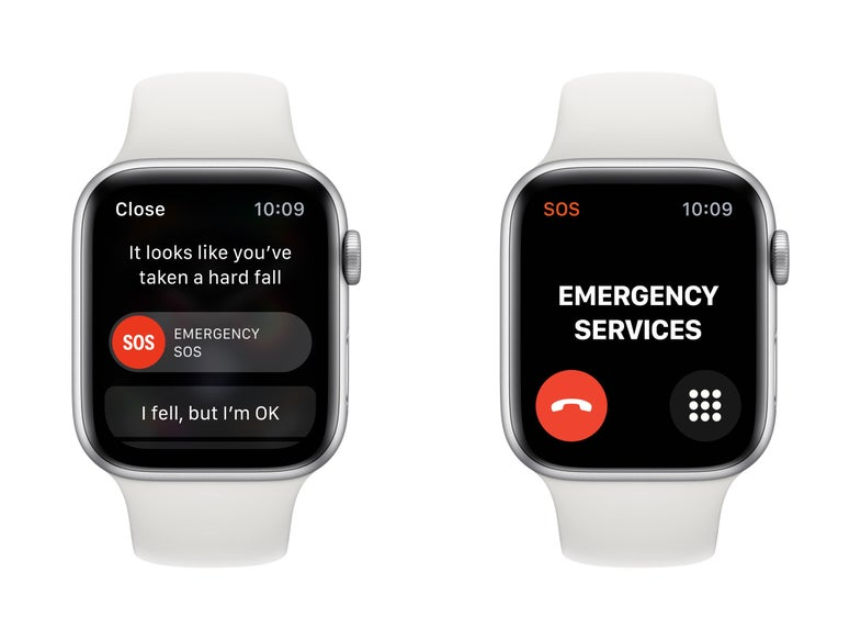 Apple fall detection screen