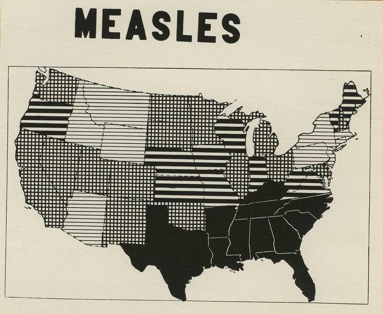 Measles cases aren't spiking, despite talk of an outbreak