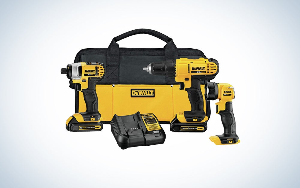 DeWALT three-piece tool kit