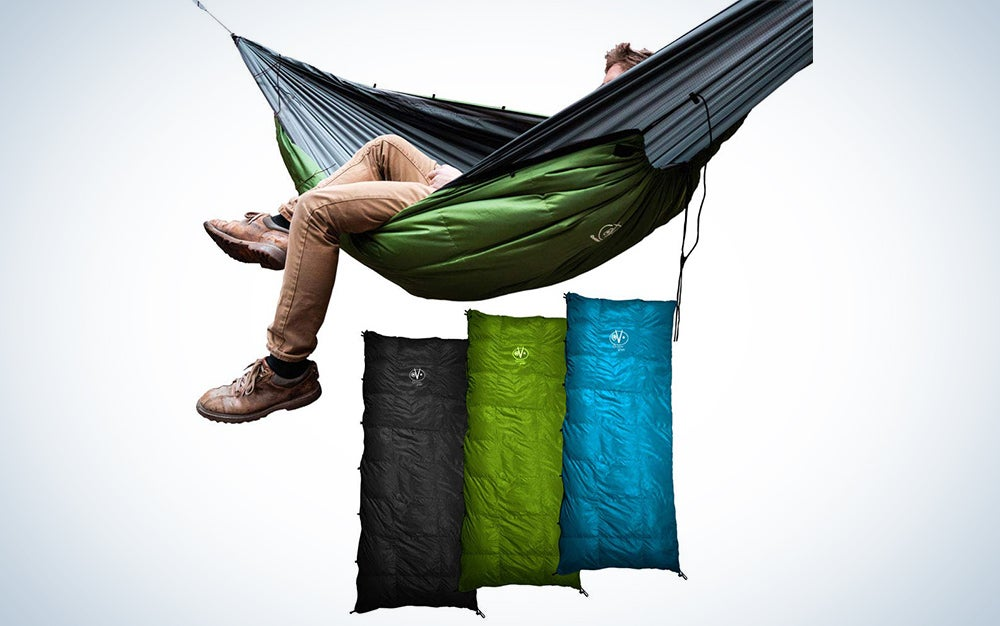 Outdoor Vitals Aerie down underquilt and sleeping bag