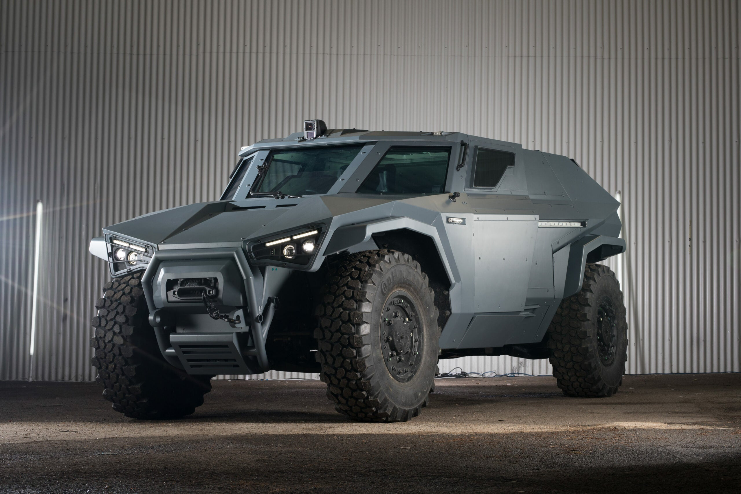 Volvo Group's new military vehicle can drive sideways, like a crab