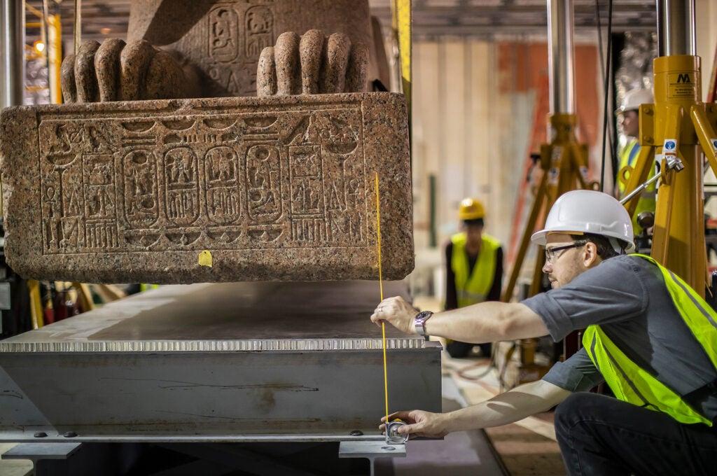 Sphinx Penn Museum vintage history Ramses Egyptian detail hieroglyphic