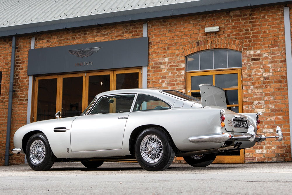 James Bond's 1965 Aston Martin is up for auction, complete with working gadgets