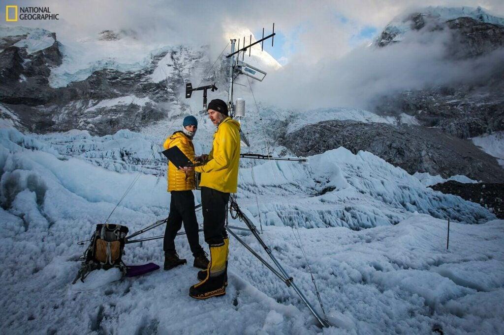 Weather station at Everest Base Camp