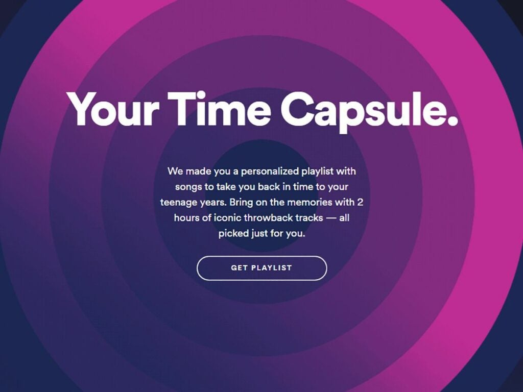 Spotify's Time Capsule