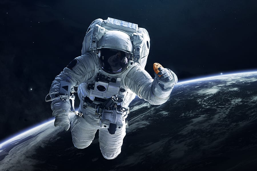 Yes, astronauts are baking cookies in space. No, they can't eat them.