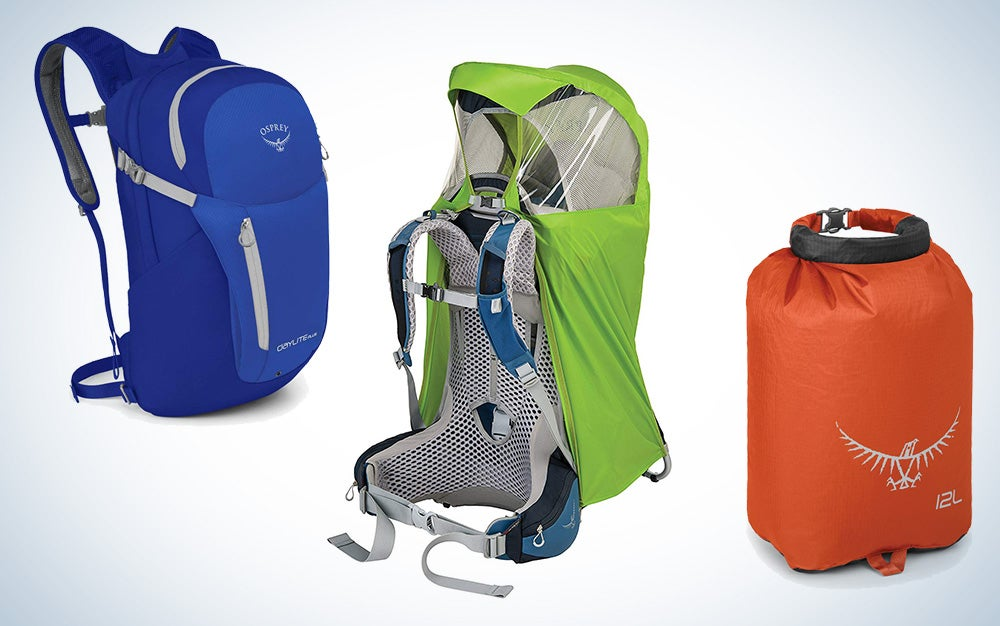 Osprey camping and hiking bags