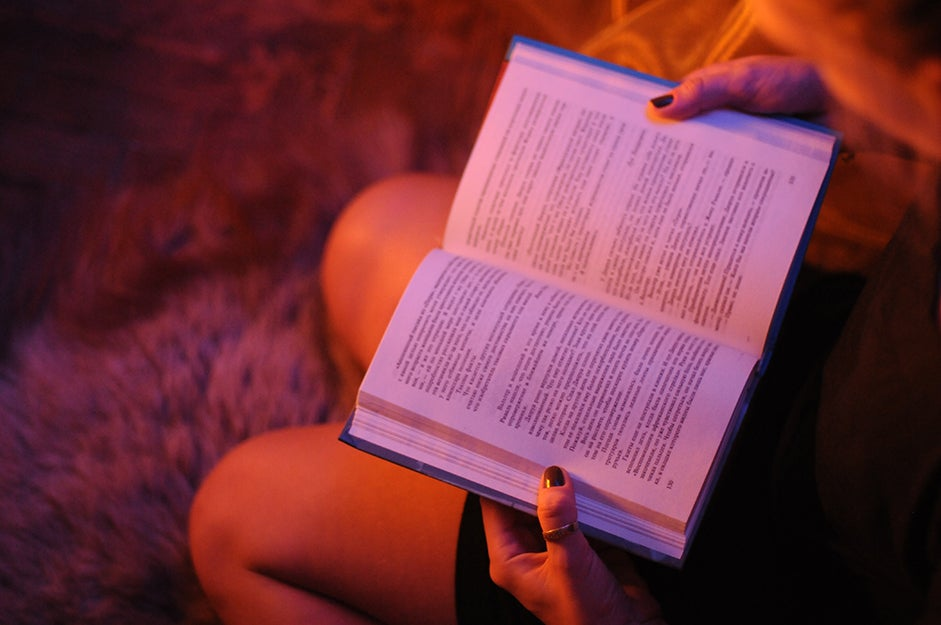 Reading a book in low light