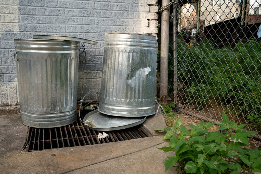 trash cans