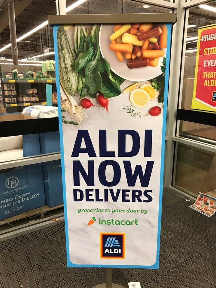 Aldi promotional banner