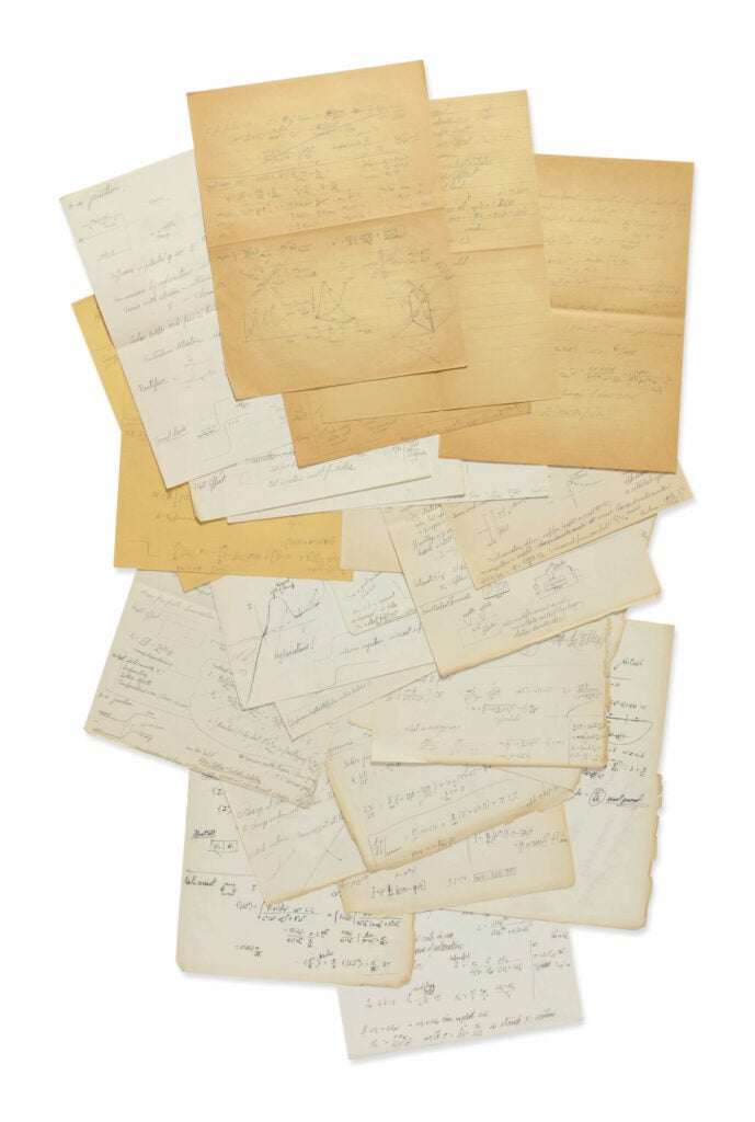 Feynman papers auction Sotheby's