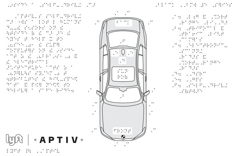 Lyft's braille guide to autonomous tech helps the blind become familiar with robocars