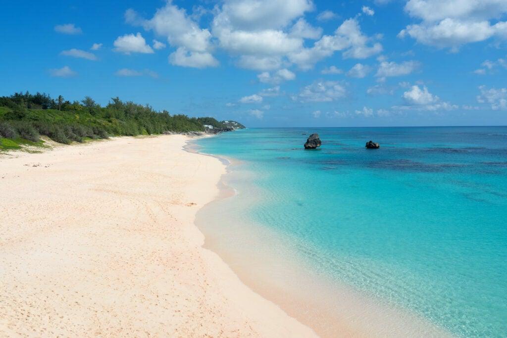 A Bermuda beach