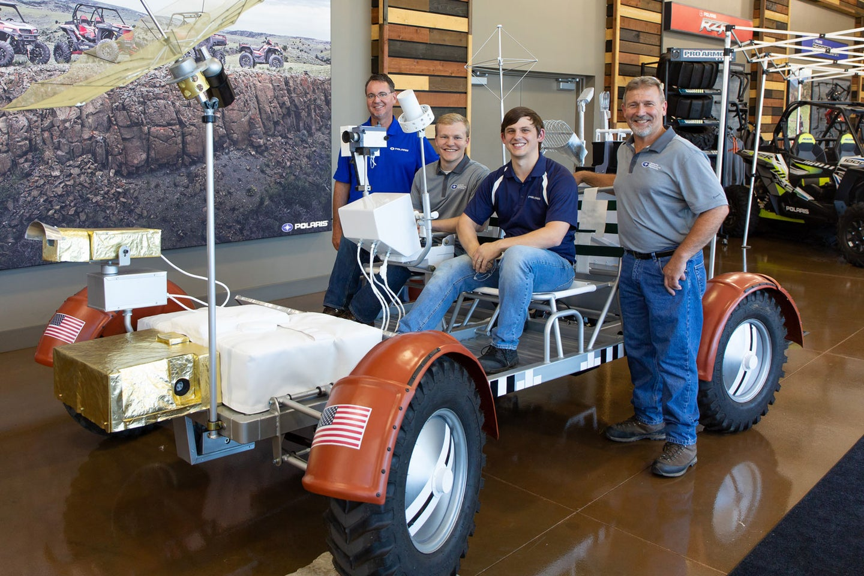 Polaris lunar rover replica at the US Space and Rocket Center