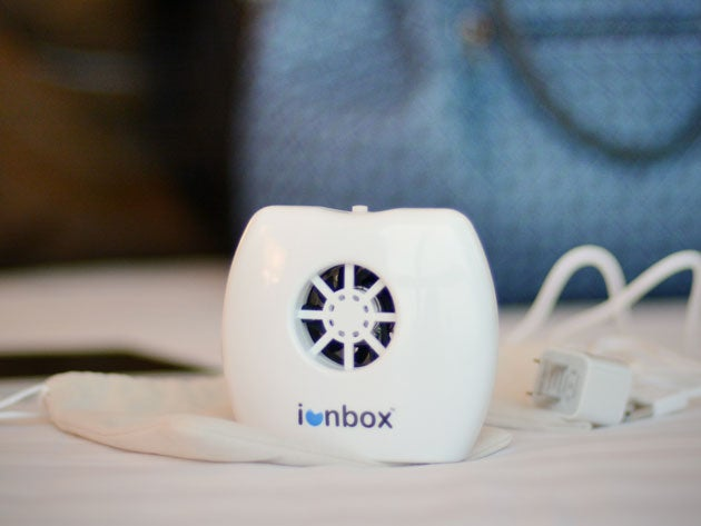 Ionbox uses charged particles to remove odor and allergens from the air