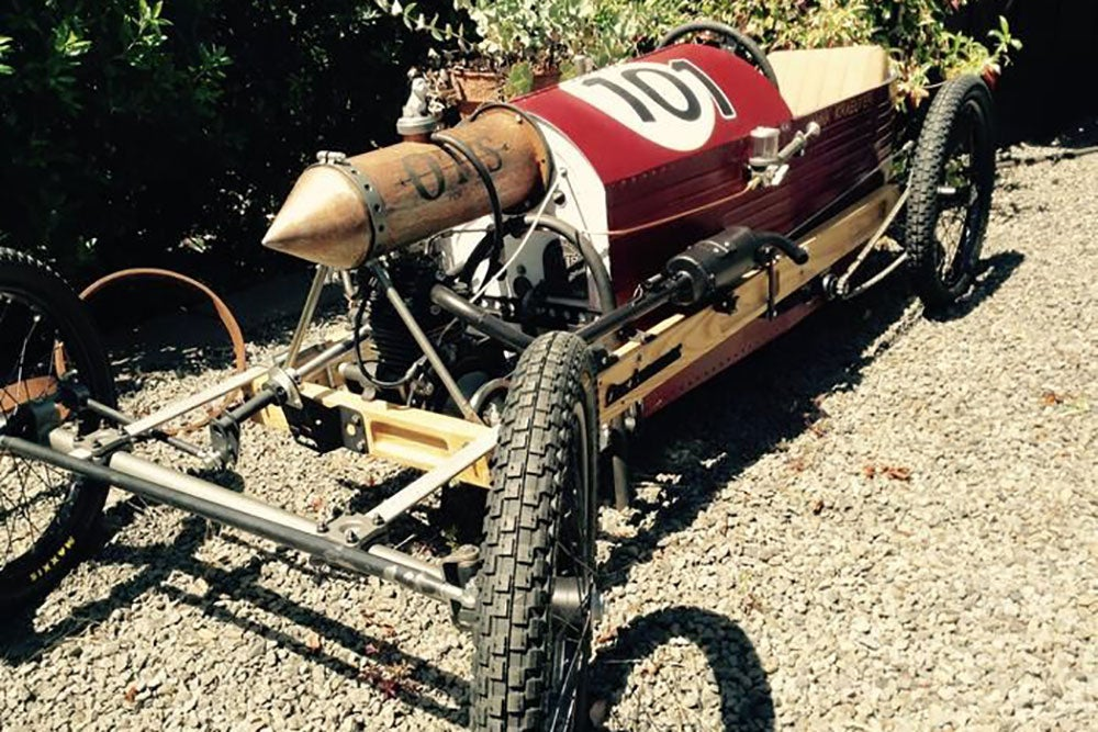 a cyclekart on gravel