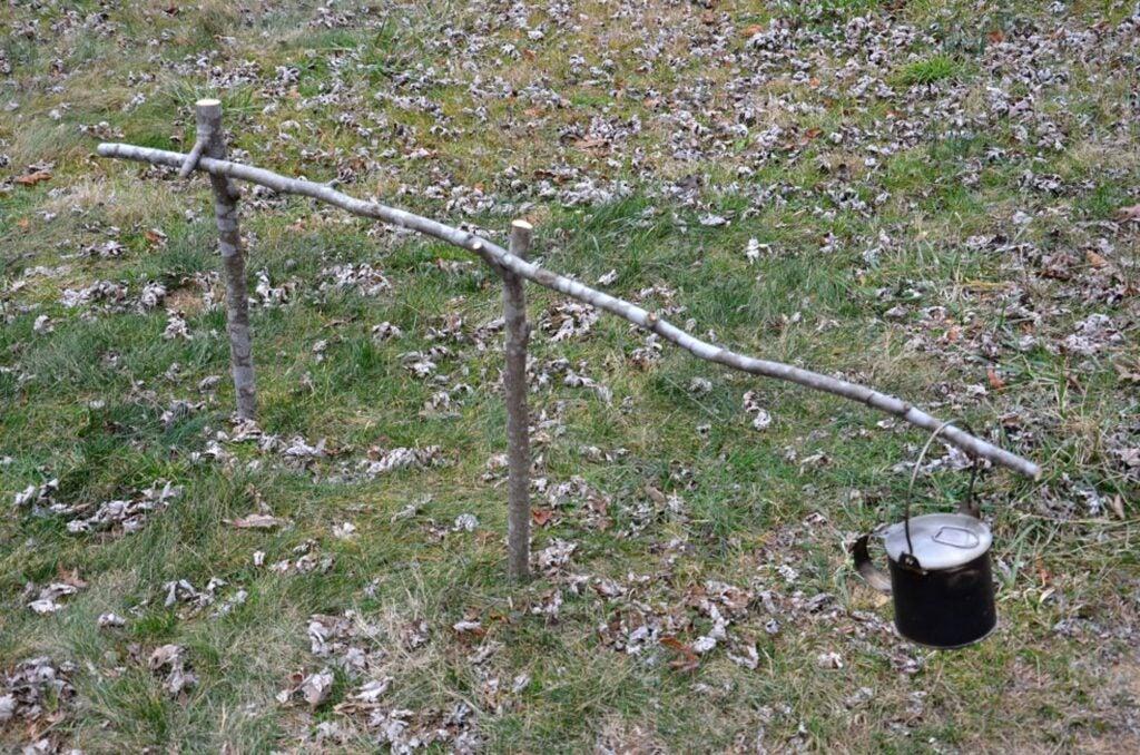 crane campfire cooking methods