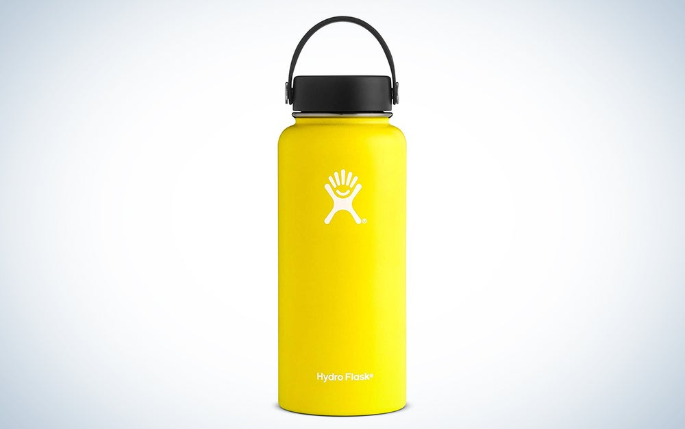 Hydro Flask Water Bottle - Stainless Steel & Vacuum Insulated - Wide Mouth 2.0 with Leak Proof Flex Cap