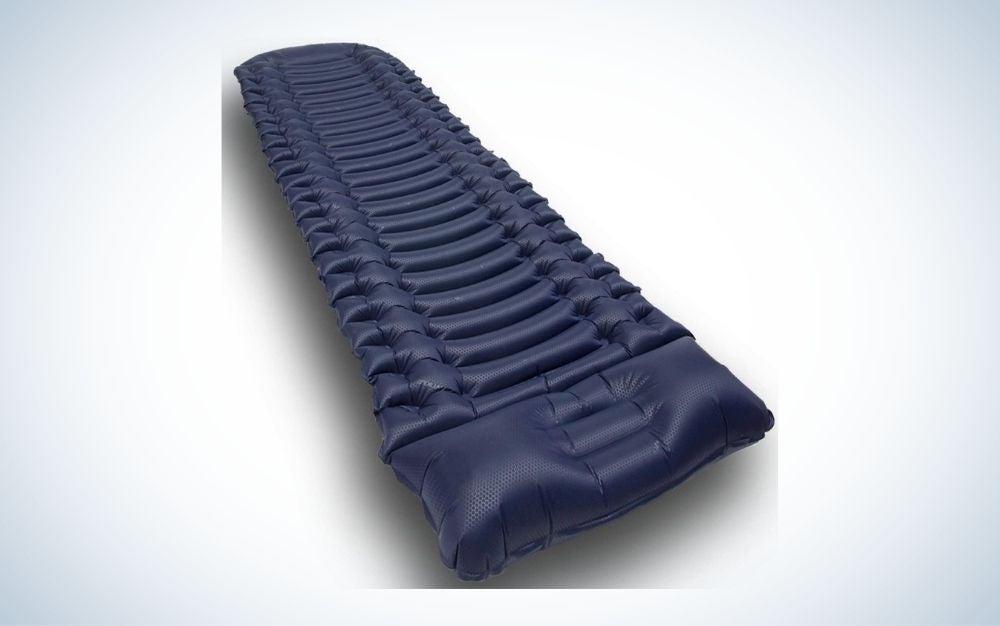 Blue lightweight compact air mattress