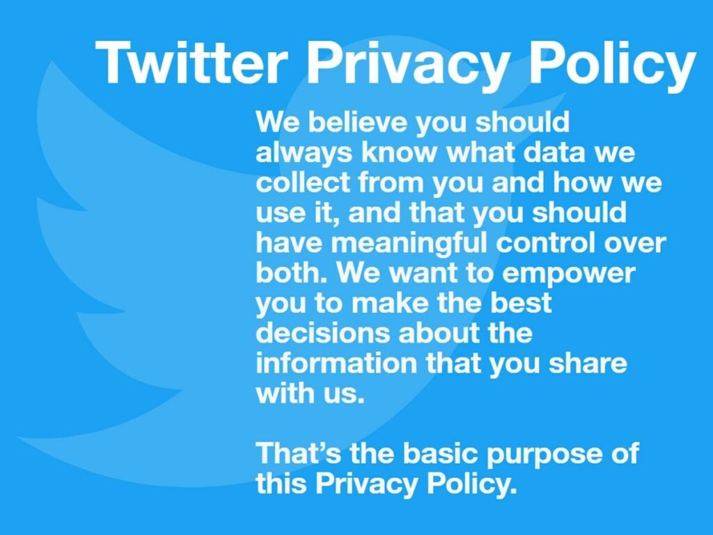 Twitter privacy policy
