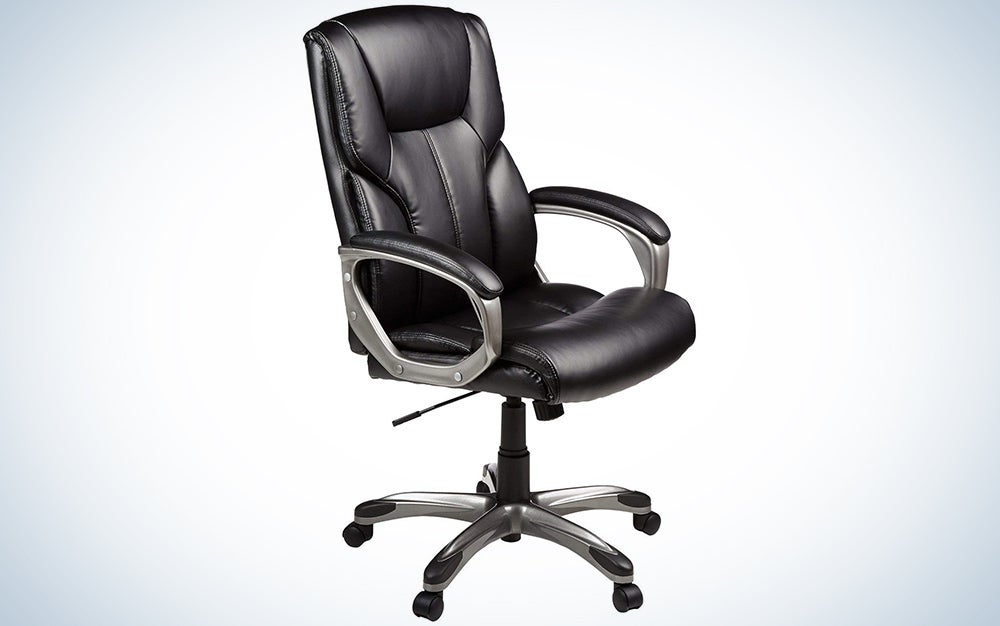 AmazonBasics High-Back Executive Swivel Office Computer Desk Chair