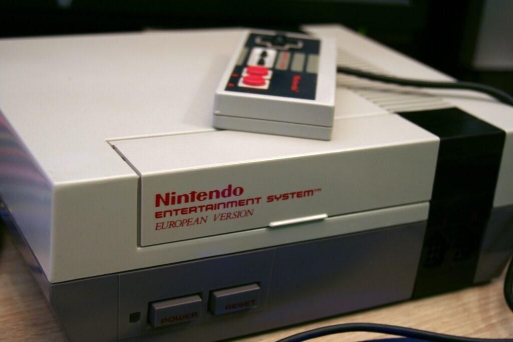 Nintendo NES with joystick