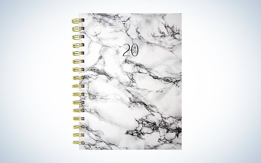 Marble Medium Daily Weekly Monthly 2020 Planner
