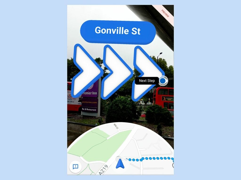Google Maps augmented reality